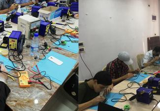Vocational Training Cell Phone Maintenance Course Al-Salam Community Center  al-Hameh