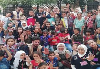 The Children of the Child Protection Club Community-led Initiative-al-Hameh, Rural Damascus