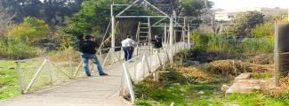 CBI  Rass al-Nabe Suspension Bridge clean-up-Banias- Tartous