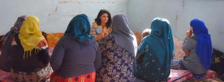 conducted an activity for a group of IDP women staying in the collective shelter
