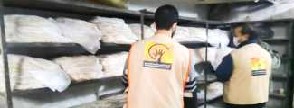 Community Services Bread Distribution - Beit Al-Salam Center - Al-Hameh, Rural Damascus
